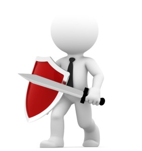 Defending. Conceptual business illustration