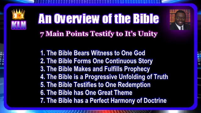 overviewofthebible7mainpointsofunity